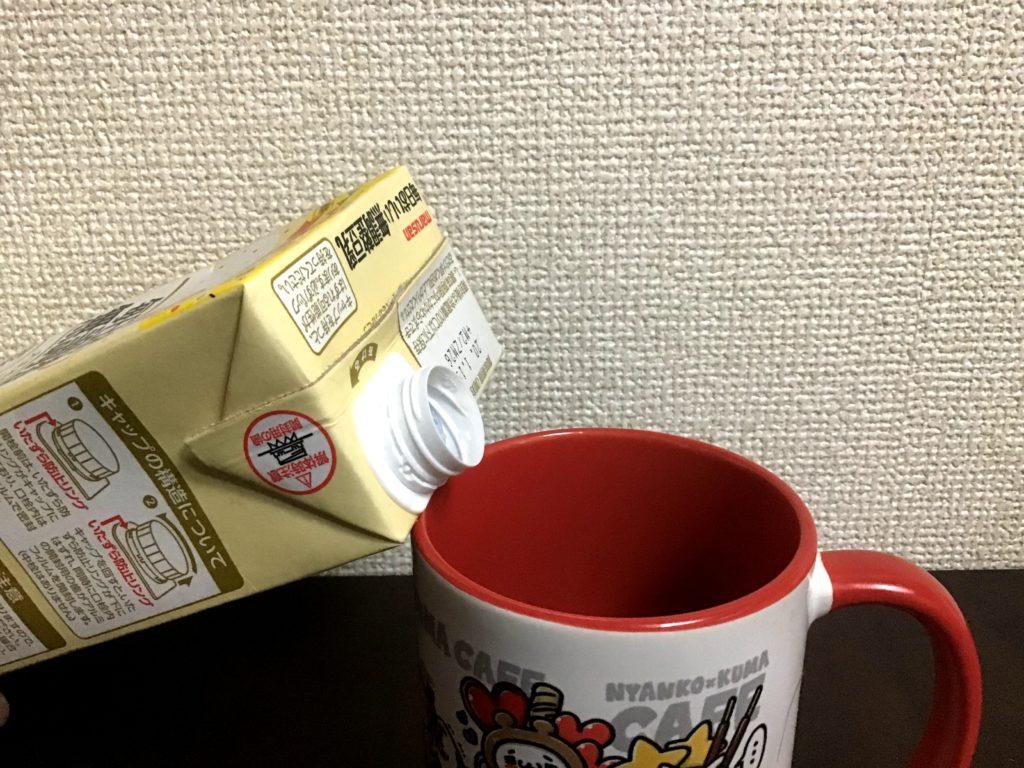 豆乳 こぼれる